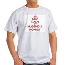 Keep calm by hugging a Monkey T-Shirt