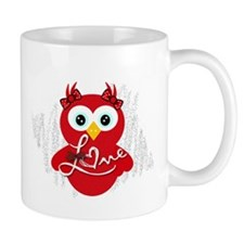 Valentine Love Owl Mugs