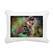 Monkeys Rectangular Canvas Pillow
