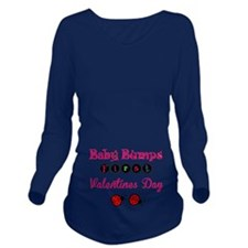 Baby bumps first valentines day Long Sleeve Matern