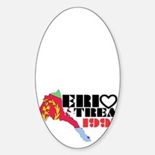Eritrea Love Sticker (Oval)