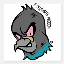 "NWSA Pigeon Head Square Car Magnet 3"" x 3"""