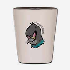 NWSA Pigeon Head Shot Glass