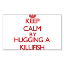Keep calm by hugging a Killifish Decal