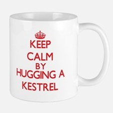 Keep calm by hugging a Kestrel Mugs