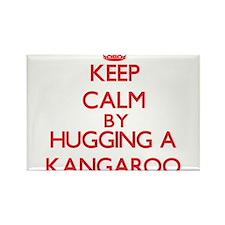 Keep calm by hugging a Kangaroo Magnets