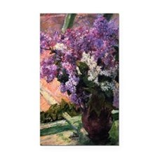 Lilacs in a Window by Mary Ca Rectangle Car Magnet