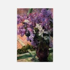 Lilacs in a Window by Mary Cassat Rectangle Magnet