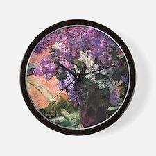 Lilacs in a Window by Mary Cassatt Wall Clock