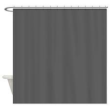 medium gray solid 2 Shower Curtain