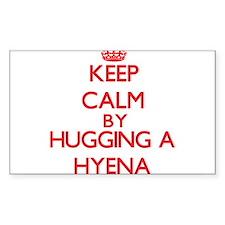 Keep calm by hugging a Hyena Decal
