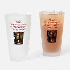tesla Drinking Glass