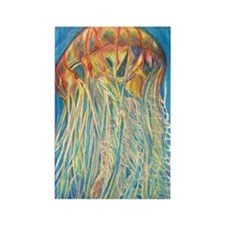 Jelly Fish Rectangle Magnet