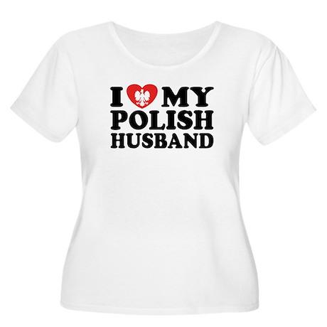 I Love My Polish Husband Women's Plus Size Scoop N