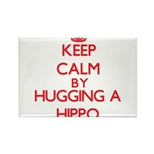 Keep calm by hugging a Hippo Magnets