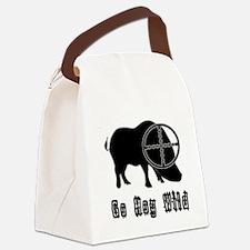 Feral Hog- Go Hog Wild Canvas Lunch Bag