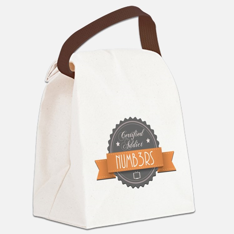 Certified Addict: Numb3rs Canvas Lunch Bag