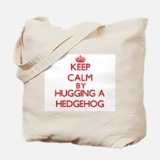 Keep calm by hugging a Hedgehog Tote Bag