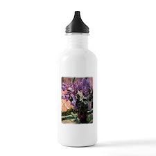 Lilacs in a Window by  Water Bottle