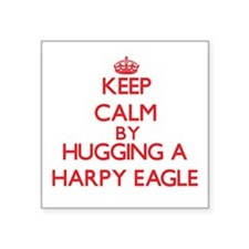 Keep calm by hugging a Harpy Eagle Sticker