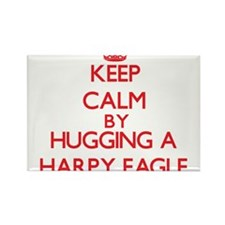 Keep calm by hugging a Harpy Eagle Magnets