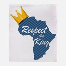 Respect the King, Africa Throw Blanket