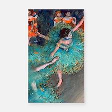 The Green Dancer by Edgar Deg Rectangle Car Magnet