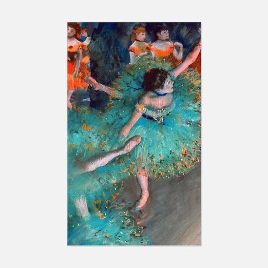 The Green Dancer by Edgar Dega Sticker (Rectangle)