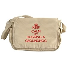 Keep calm by hugging a Groundhog Messenger Bag
