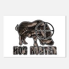 Riveted Metal Feral Hog Hunter Postcards (Package
