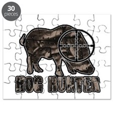 Riveted Metal Feral Hog Hunter Puzzle