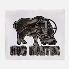 Riveted Metal Feral Hog Hunter Throw Blanket