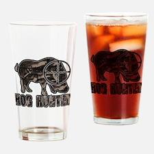 Riveted Metal Feral Hog Hunter Drinking Glass
