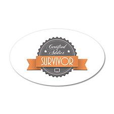 Certified Addict: Survivor 38.5 x 24.5 Oval Wall P