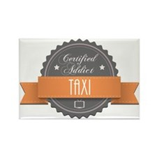 Certified Addict: Taxi Rectangle Magnet