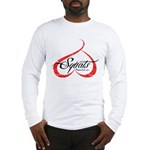 BOOTY SQUATS - WHITE II Long Sleeve T-Shirt