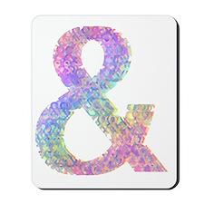 Rainbow Helvetica Ampersand Mousepad