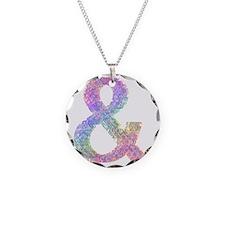 Rainbow Helvetica Ampersand Necklace