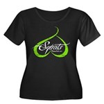 BOOTY SQUATS - LIME Plus Size T-Shirt