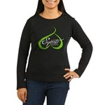 BOOTY SQUATS - LIME Long Sleeve T-Shirt