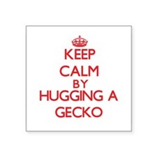 Keep calm by hugging a Gecko Sticker