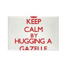 Keep calm by hugging a Gazelle Magnets