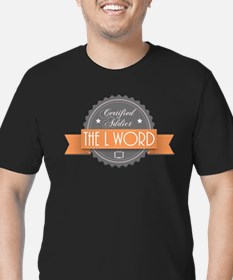 Certified Addict: The L Word Men's Dark Fitted T-S