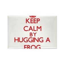 Keep calm by hugging a Frog Magnets
