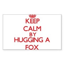 Keep calm by hugging a Fox Decal