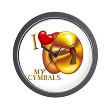 I Love My Cymbals Wall Clock