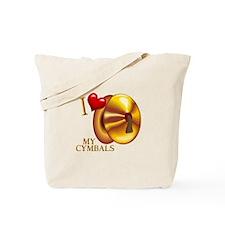 I Love My Cymbals Tote Bag