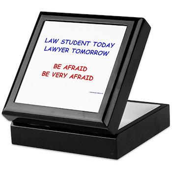 Be Afraid of Law Students Keepsake Box