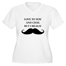 I Really Mustache Plus Size T-Shirt