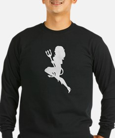 Sexy Devil Silhouette Long Sleeve T-Shirt
